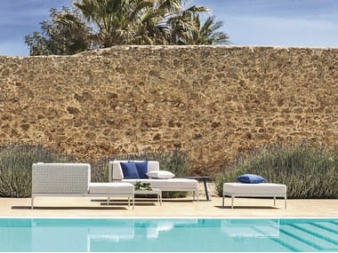Sectional Ethimo LightWick® sofa INFINITY | Sectional sofa