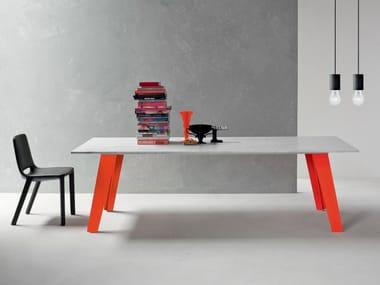 Rectangular marble table WELDED