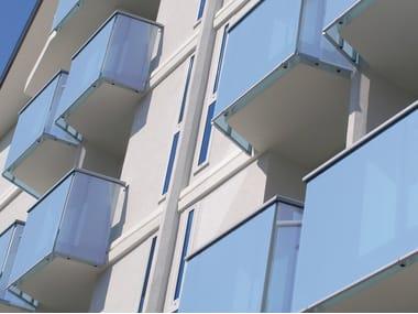Parapetto in alluminio e vetro ALL LUX