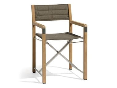 Folding Batyline® chair CROSS | Teak chair