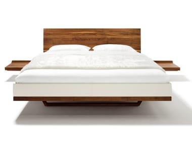 Cama doble de madera maciza RILETTO | Cama doble