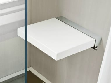 Folding polyurethane shower Seat GIANO | Shower Seat