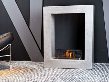 Freestanding bioethanol fireplace TREVISO