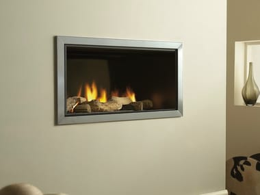 Gas stainless steel fireplace VERTEX