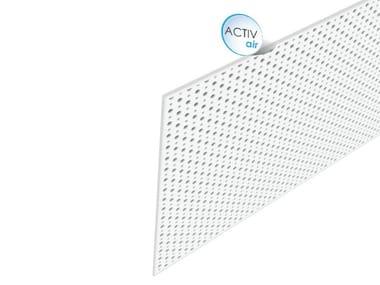 Acoustic plasterboard ceiling tiles Rigitone™ Activ'Air® 12-20/66