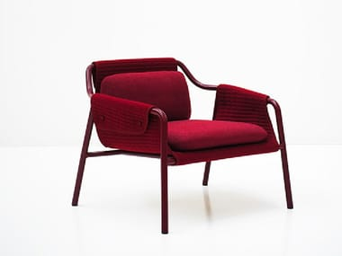Upholstered armchair with armrests JACKET