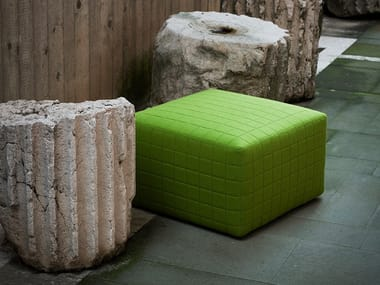 Upholstered fabric pouf QUARTIER