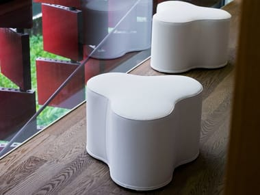 Pouf with removable lining TRIFOGLIO