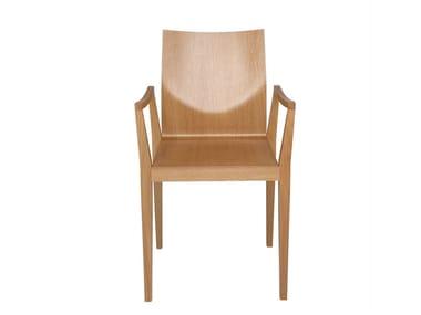 Ergonomischer Stuhl aus Holz mit Armlehnen CAPPL | Stuhl mit Armlehnen