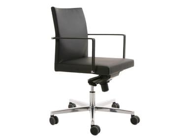 Höhenverstellbarer 5-Speichen- Bürostuhl mit Armlehnen FEEL | 5-Speichen- Bürostuhl