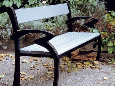 Wooden Bench with armrests KLARA
