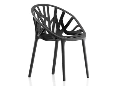 Stackable plastic chair VEGETAL