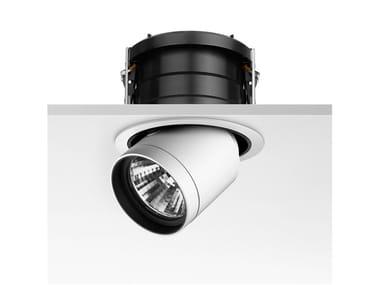 Halogen adjustable aluminium spotlight PURE DOWNLIGHT
