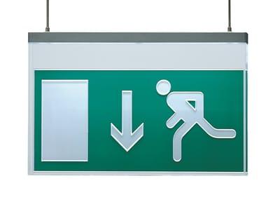 Emergency light / sign VIR | Suspended sign