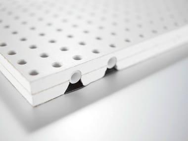 Panel para techos suspendidos fonoabsorbente radiante de cartón yeso Panel para techos suspendidos radiante