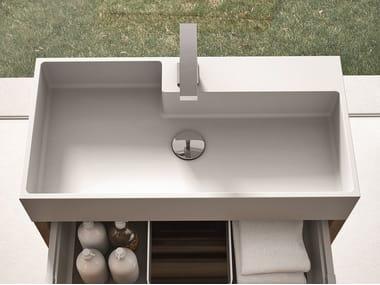 Rectangular single Aquatek washbasin CUBIK