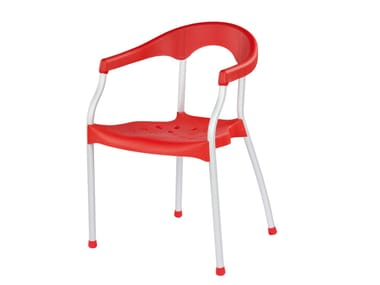 Chaise empilable avec accoudoirs SERENA