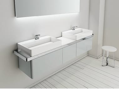 Mueble bajo lavabo doble suspendido STRUCTURE | Mueble bajo lavabo suspendido