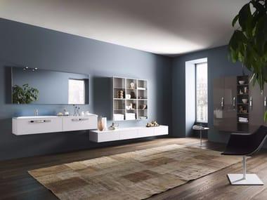 progetto composizione 3 sistema bagno componibile