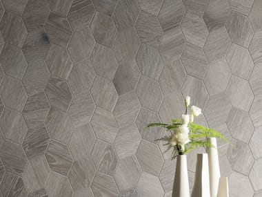 Porcelain stoneware wall/floor tiles with wood effect PROVOAK GRIGIO SPAZZOLATO
