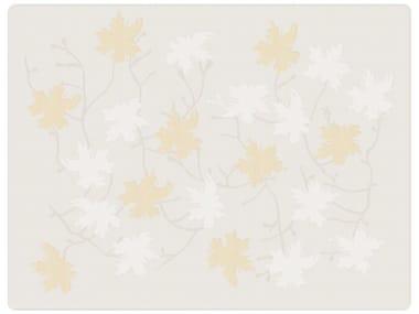 Trapunta jacquard in cotone con motivi floreali PEACH BLOSSOM | Trapunta
