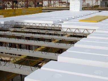 Lattice joist for reinforced concrete floor slab Lattice reinforced joists
