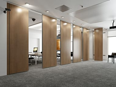 Sliding operable wall ROLLING WALL BICARRELLO | Operable wall