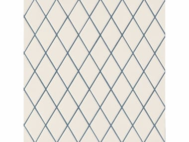 Porcelain stoneware wall/floor tiles ROMBINI LOSANGE WHITE BLUE