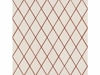 Porcelain stoneware wall/floor tiles ROMBINI LOSANGE WHITE RED