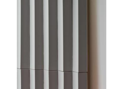 Porcelain stoneware 3D Wall Cladding ROMBINI TRIANGLE GREY