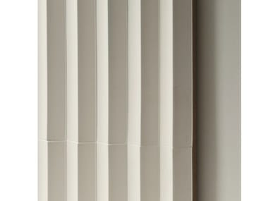 Indoor porcelain stoneware 3D Wall Cladding ROMBINI TRIANGLE WHITE