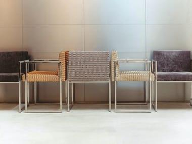 Sled base fabric chair S01 PARIS | Fabric chair