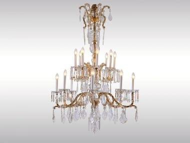 Classic style glass chandelier SALONLUSTER IN KRONENFORM