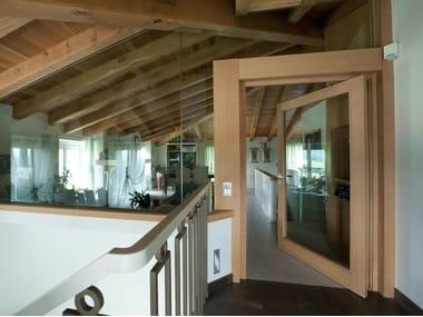 Energy-saving exterior wooden pivot door SC80-100 | Pivot door