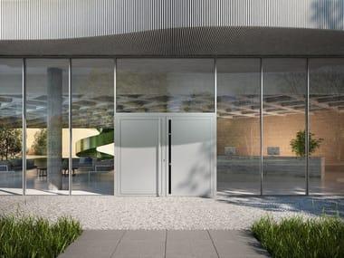 Sistema per facciata continua in alluminio e vetro Schüco FWS 50