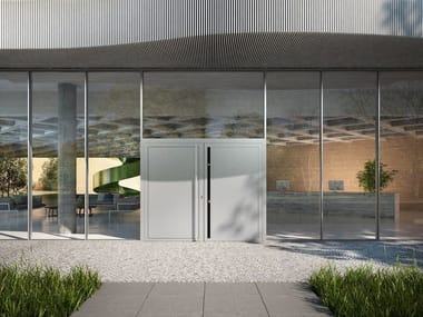 Glass and aluminium Continuous facade system Schüco FWS 50