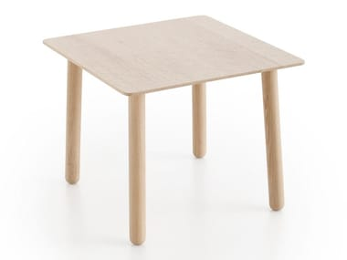 Square oak coffee table SILAÏ | Square coffee table