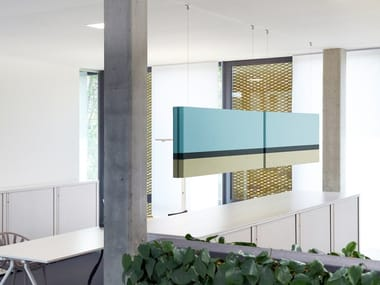 Fabric hanging acoustical panels NO. 02 SUMMER IN THE CITY | Acoustic baffles