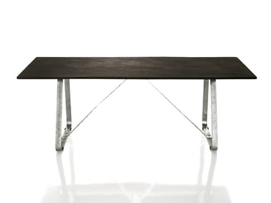 Rectangular galvanized steel table SUSSEX | Table