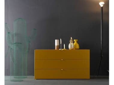 Lacquered chest of drawers TETRIS | Chest of drawers