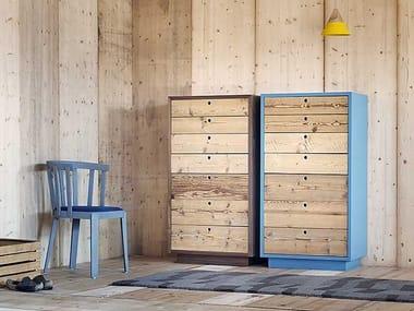 Cajonera de madera de pie TOLA | Cajonera de madera