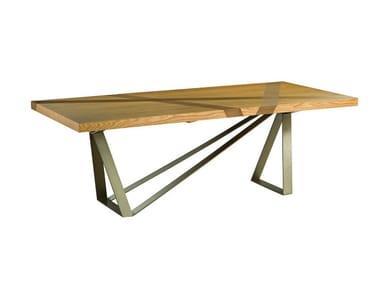 Table à manger rectangulaire en placage de bois TRACK Collection ...