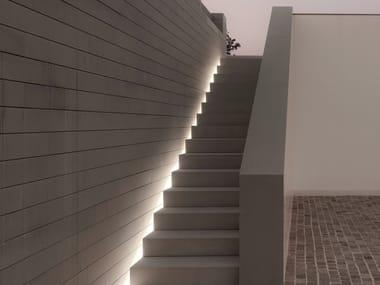 Profilo per illuminazione lineare in alluminio per moduli LED TUBO POLICARBONATO IP67