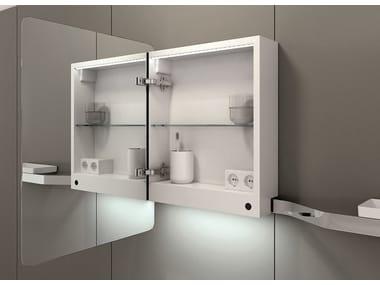 Espejo con contenedor para baño VASE | Espejo con contenedor