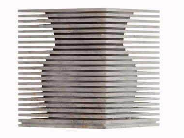 Vaso in marmo di Carrara INTROVERSO 2 | Vaso