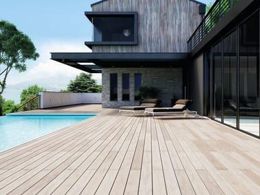 Pavimento per esterni in materiale composito effetto legno EXTERNO WHITE