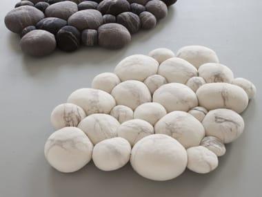 tappeto per bagno fatto a mano in feltro di lana pebble tappeto per bagno in