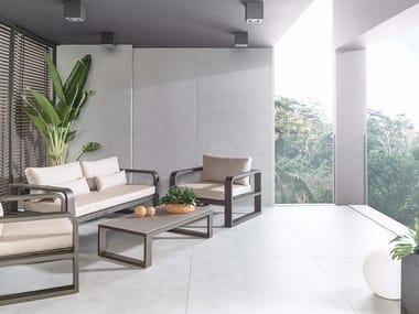 Indoor/outdoor wall/floor tiles with concrete effect XLIGHT STARK GREY