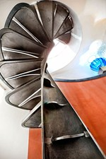 Iron helical stairs ETIKA - OFFICINE SANDRINI