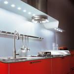 VENUS cappa, barra e piano di lavoro in alluminio e illuminazione LED